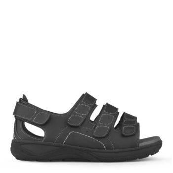 New Feet herre sandal med hælkappe og 3 velcroremme