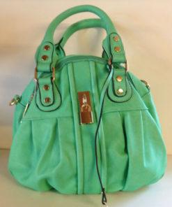 mint grøn taske med 2 rum med lynlås