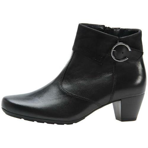 Gabor støvlet i sort skind på 4,5 cm hæl