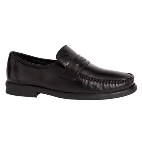 Senator herre loafer, sort skind