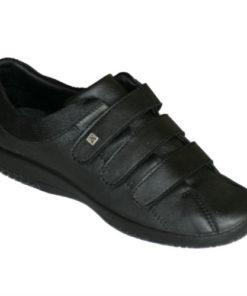 Arcopedico stof sko med 3x velcro