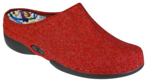 Berkemann anatomisk formet hjemmesko i rød uldfilt