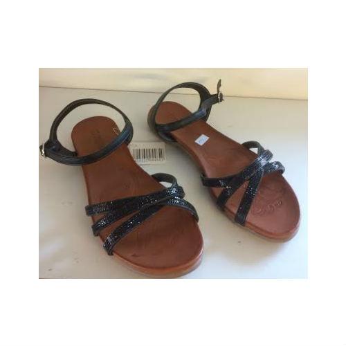 sandal med sorte glitter sten