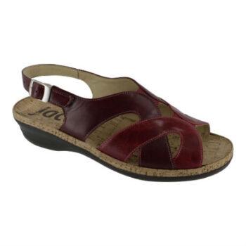 Jaco, rød sandal med korkbund, Nyholmstrand Sko