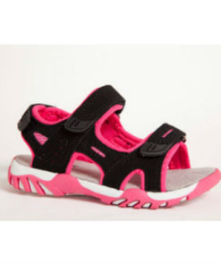 Gulliver sandal, smart pink sort med velcro. Nyholmstrand Sko