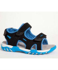 Gulliver sandal, smart blå sort med velcro. Nyholmstrand Sko