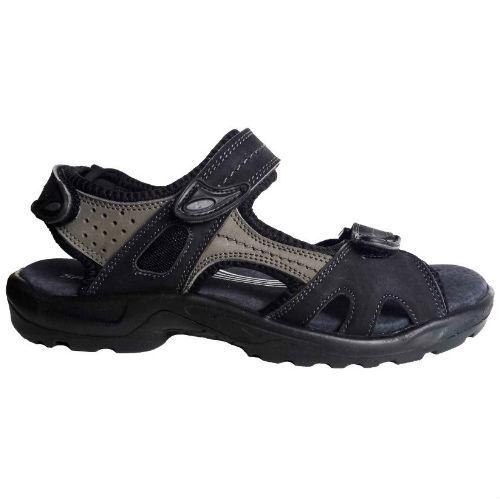 Sana Vital sort grå, blød sandal Nyholm sko