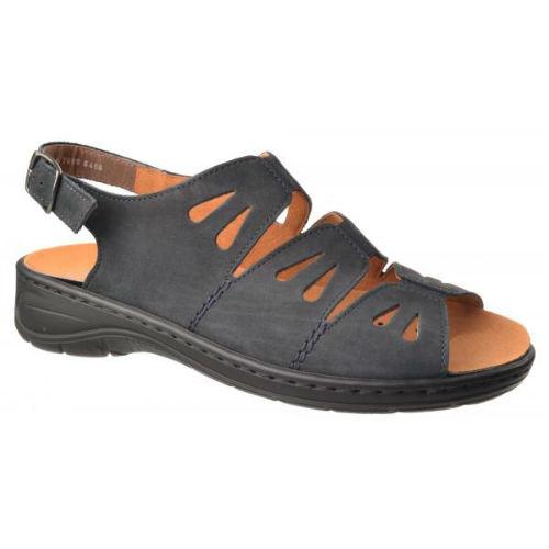 Jenny sandal med elastik foran, flot sort