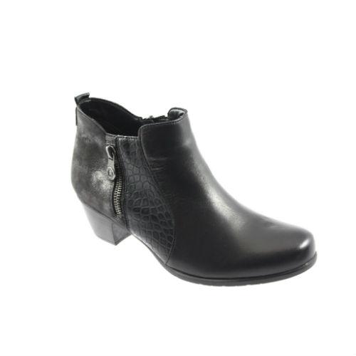 555dd837da1d Remonte kort støvle med glitter og kroko skind