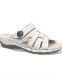 Josef seibel sandal i hvid skind 98809