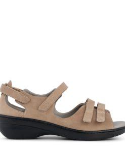 ecc3e98d127 New feet sandal med velcro og hælkappe, der støtter foden.