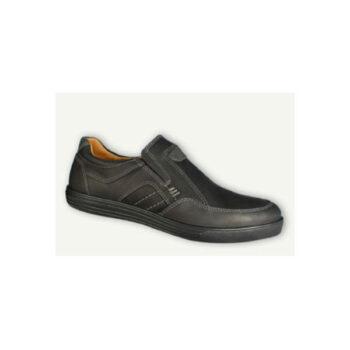 Jomos hytte sko i sort nubuck