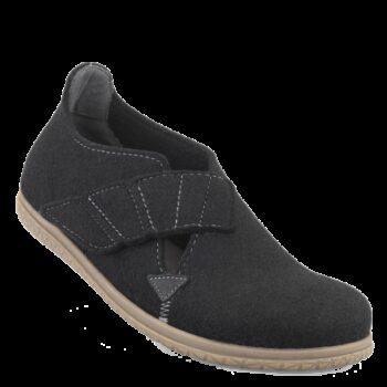New Feet hjemmesko i sort uldflit