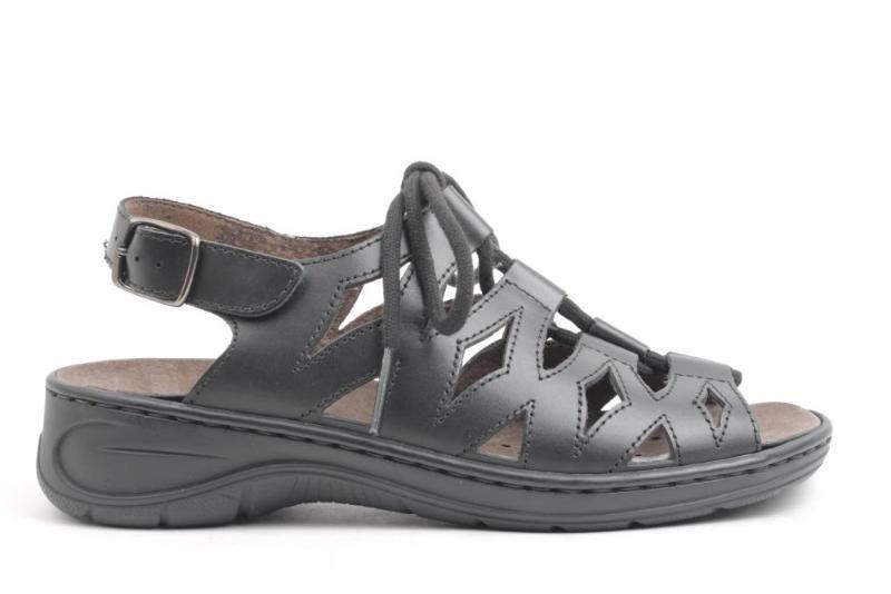 570586be Hævede fødder ? Så se her, her er sandalen med snøre der kan klare det.