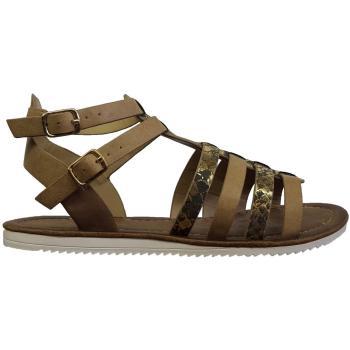 Sandal i Romer look, med spænder ved vristen