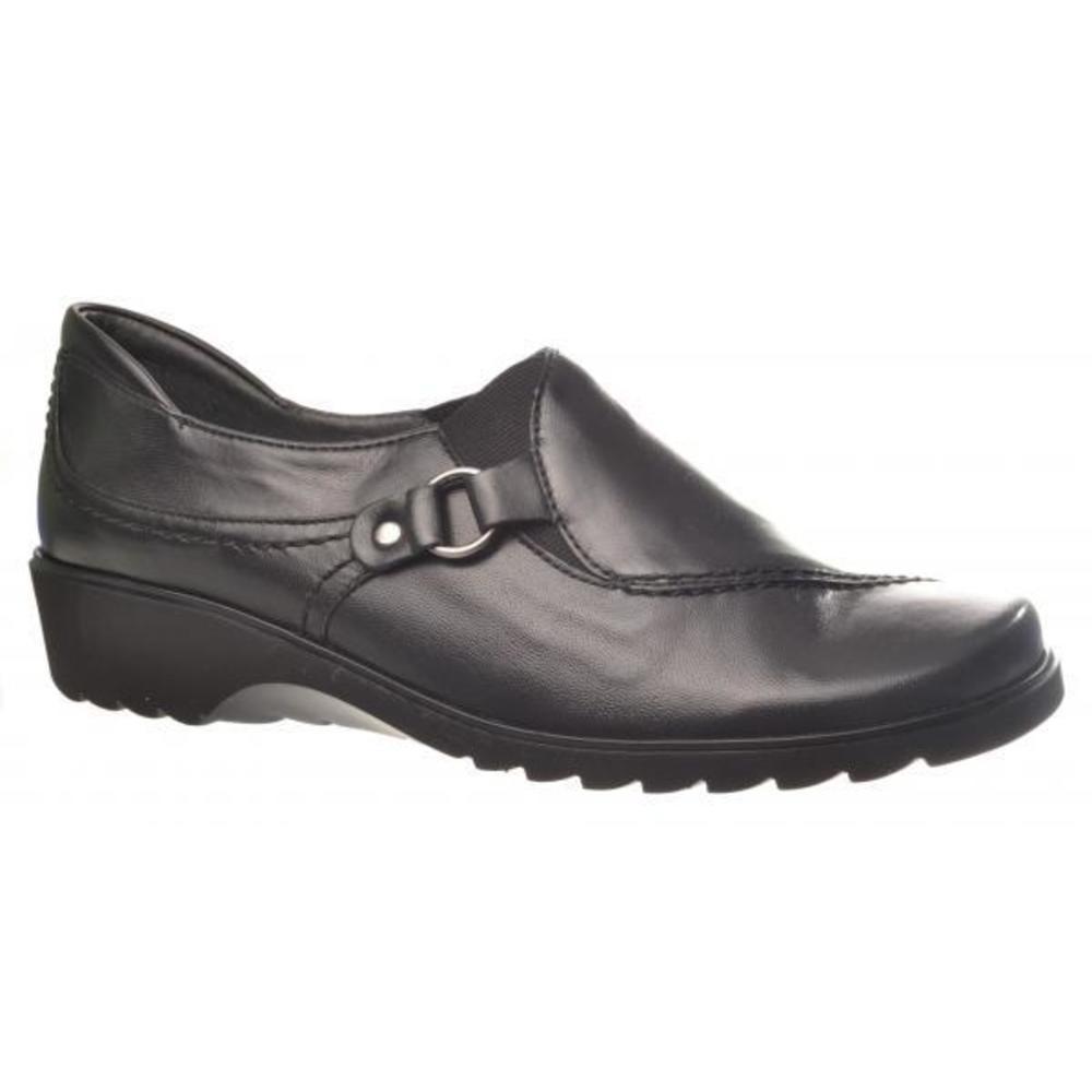 fc20b657bb2 Skoen du lige smutter i. Praktisk hyttesko i sort skind fra Ara.