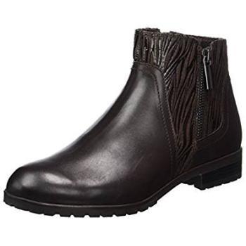 Caprice kort støvle med effekt skind