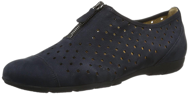 7d59f04df85 Lækker let sommer sko fra Gabor. Sko med lufthuller i blå nubuck.