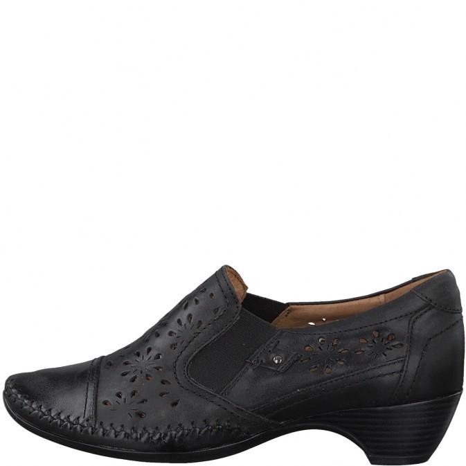 51cd56965b27 Skoen til både bukser og kjole. Jana skind sko med et flot mønster.