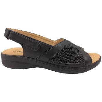Sandal med stræk i begge sider