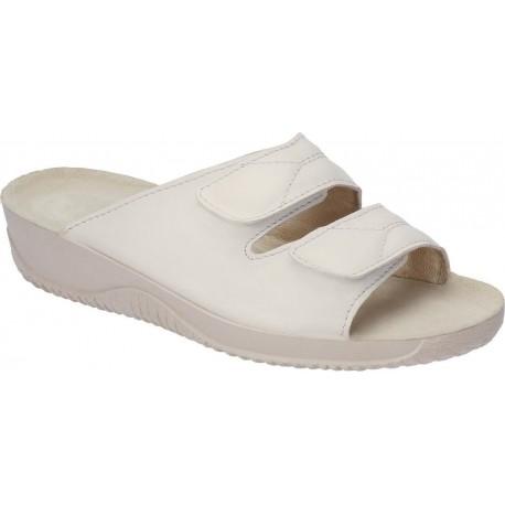 Rohde dame slippers i beige skind