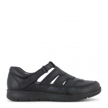 New Feet sandal sko i helt sort,med dejlig luft til fødderne.