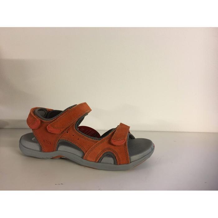 Green Comfort, Corsica sandal i orange