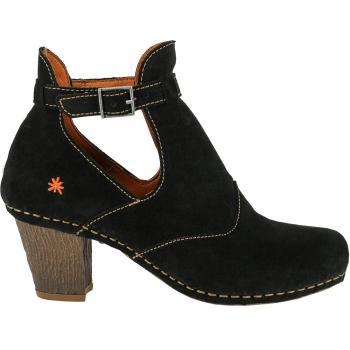 Art 0143 I Meet sandal støvle, elegant i sort ruskind