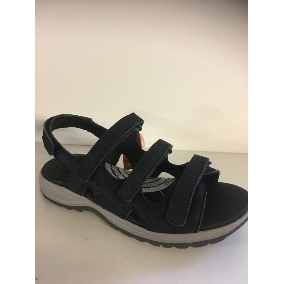 Green Comfort camino sandal, med justerbare velcroremme