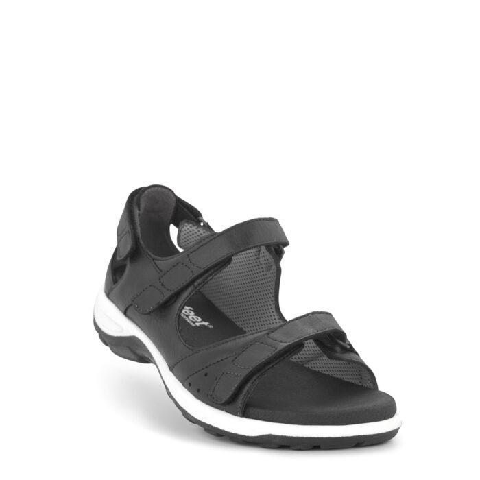 New Feet sort sandal med kappe
