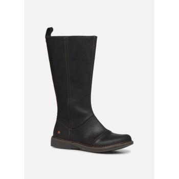 Art Bergen flot lang støvle, i sort wax skind