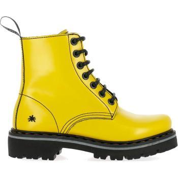 Art flot gul støvle med en kraftig sål og snøre foran