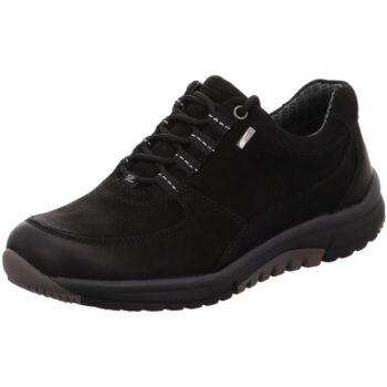 Gabor Rolling Soft, snøre tex sko i sort nubuck.