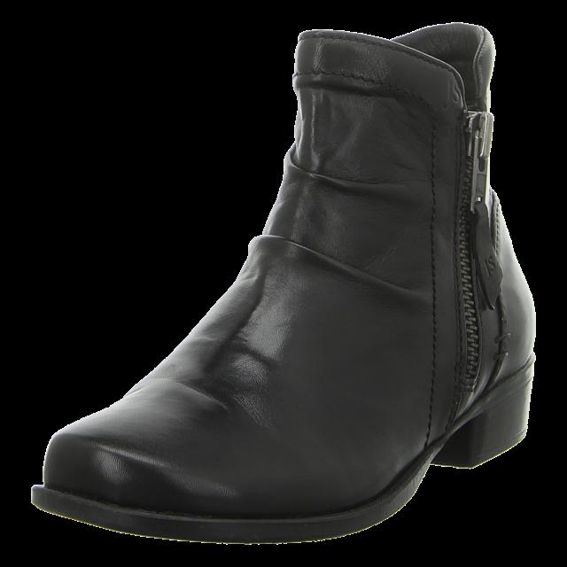 Dame støvle i sort blødt skind og på en lille hæl.