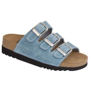 Scholl sandal model Rio, her i lysblå