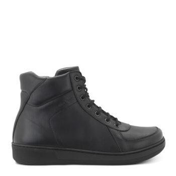 New Feet fodformet støvle i sort skind