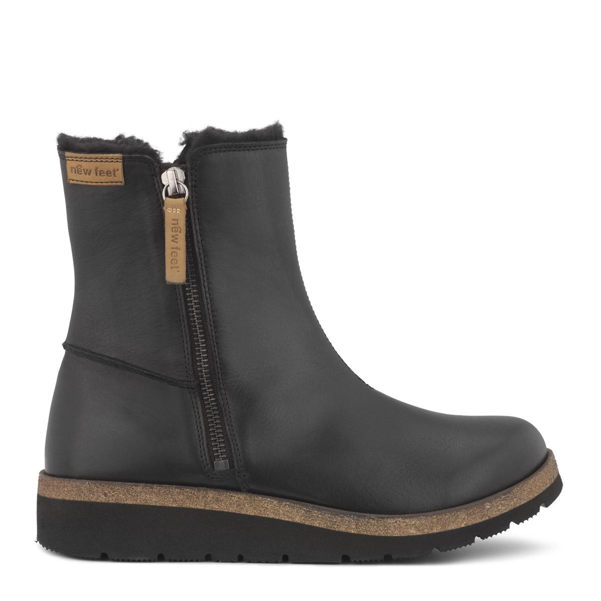 New Feet let støvle med 2 brugbare lynlåse