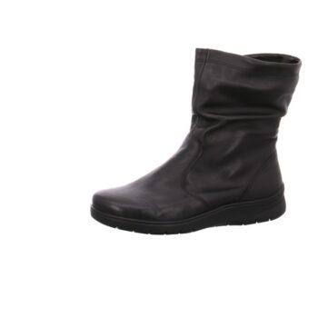 Ara kort støvle i lækkert blødt sort skind, til dame.