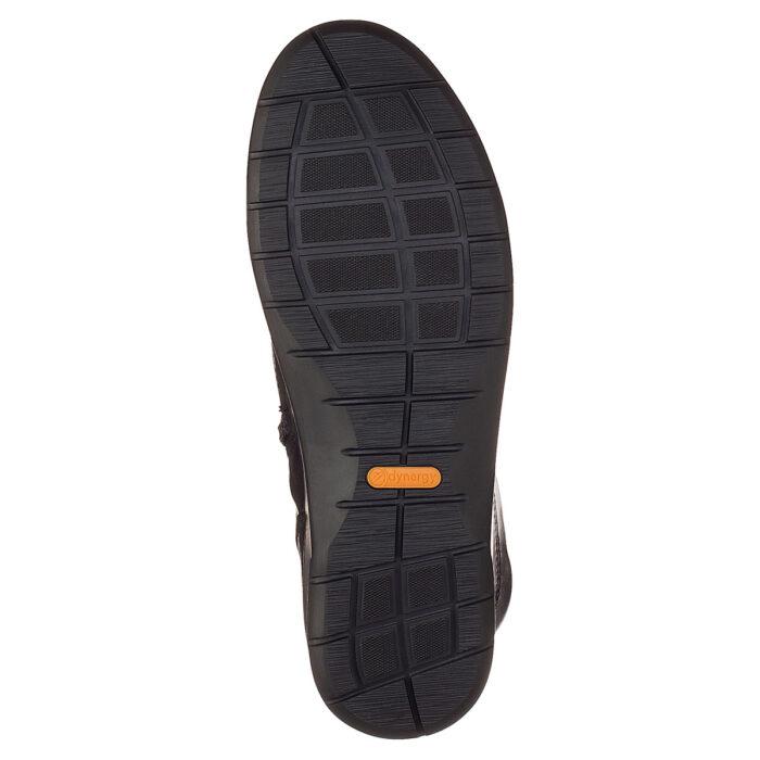 Ara støvle med let foer. Sort glat skind