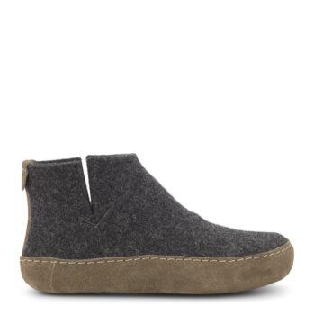 Uld kamik fra New Feet, Antracit grå