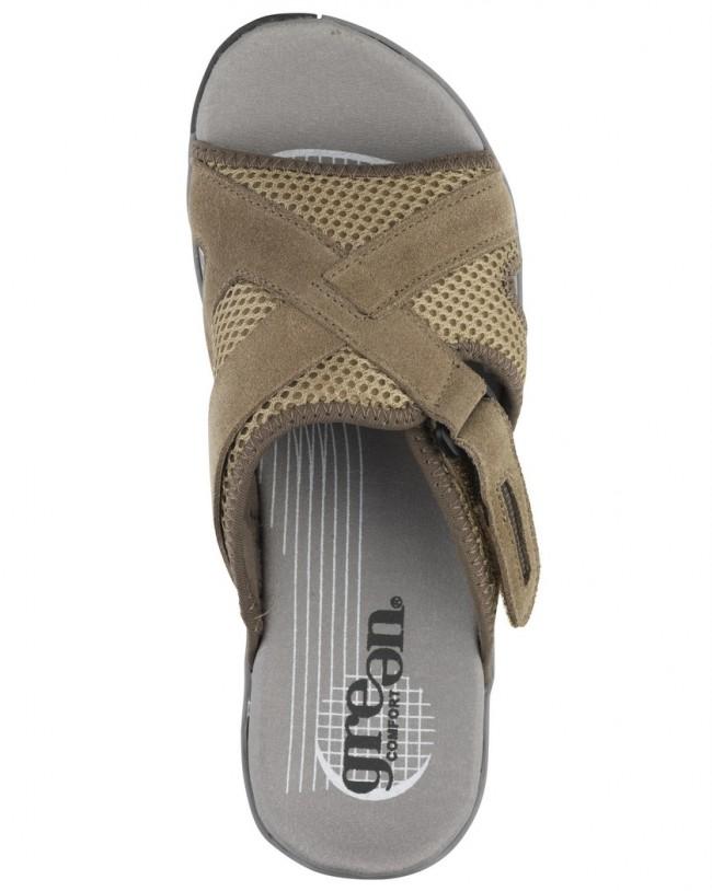 Green Comfort slippers med opbygning i bunden