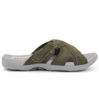 Green Comfort slippers i oliven grøn