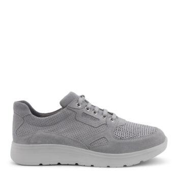 New Feet grå ruskinds sko med snørebånd