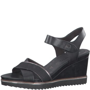 Tamaris sandal på 8 cm kilebund