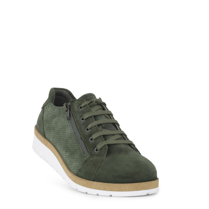 New Feet sko i grøn ruskind