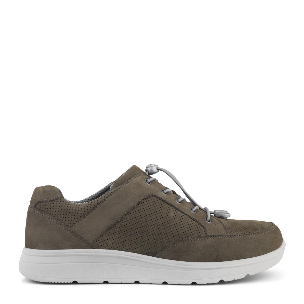 New Feet grå nubucksko, med elastiksnøre