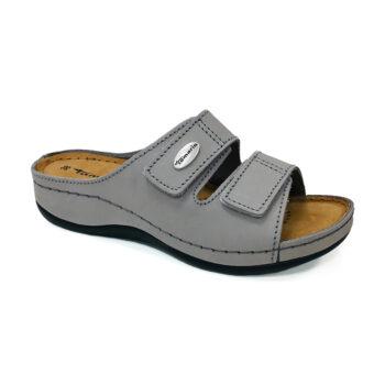 Tamaris lys grå nubuck slippers