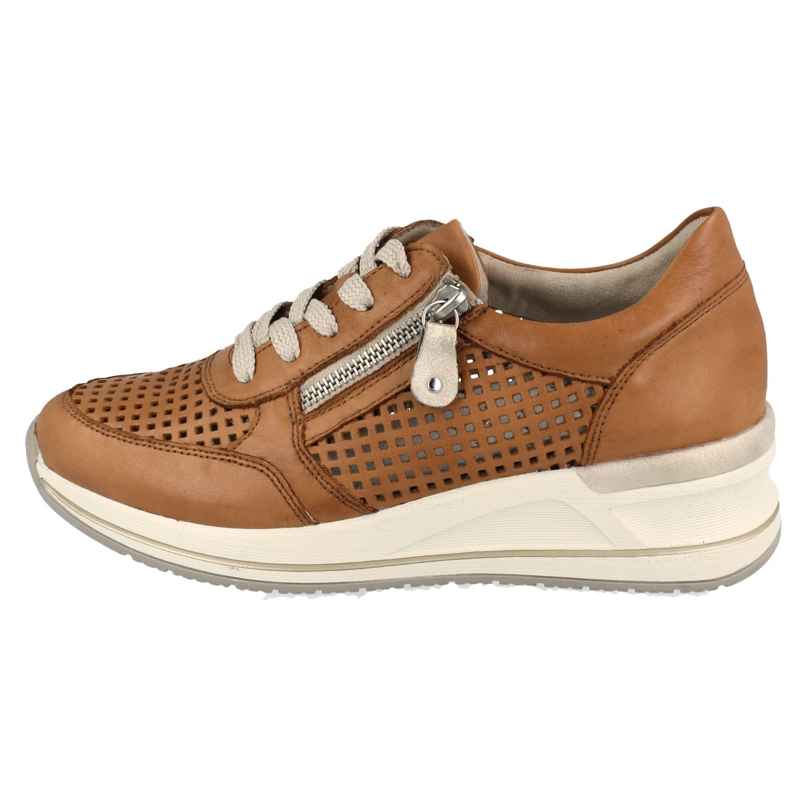 Remonte dame sneaker i brun