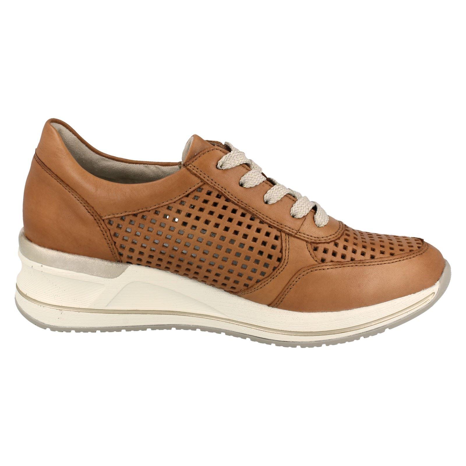 Remonte dame sneaker i brun skind