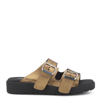New Feet sandal i bronze farvet skind